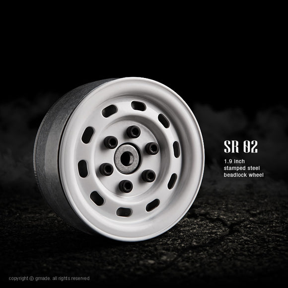 1.9 SR02 Beadlock Wheels (Gloss White) (2)