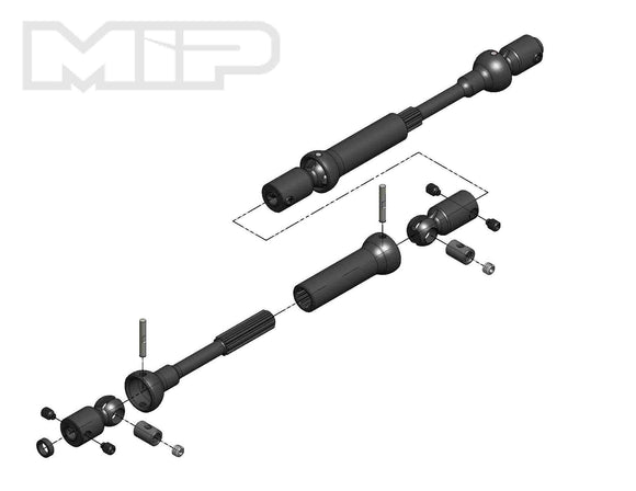 MIP X-Duty, Center Drive Kit, 120mm to 145mm