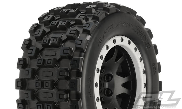 Badlands MX43 Pro-Line All Terrain Tires (2) Mounted on