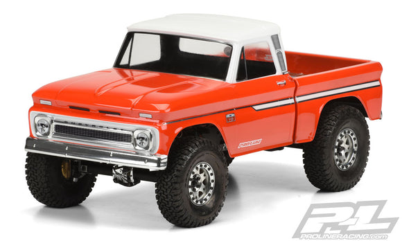 1966 Chevrolet C10 Clear Body Cab and Bed, for SCX10 Honcho