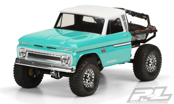 1966 Chevrolet C10 Clear Body Cab, for SCX10 Honcho