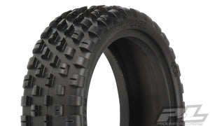 "Wide Wedge 2.2"" 2WD Buggy Front Tires in Z4 (Soft Carpet"