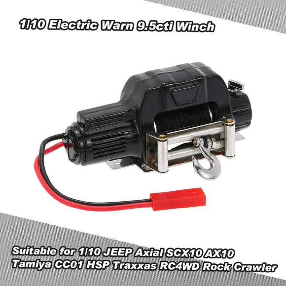 1/10 Mini Electric Warn 9.5cti Winch for RC 1/10 JEEP Axial SCX10 AX10 Tamiya CC01 HSP Traxxas RC4WD Rock Crawler