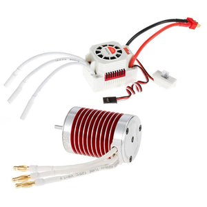 SURPASS HOBBY Platinum Set Waterproof F450 4370KV Brushless Motor with 45A ESC for 1/10 1/12 RC Car Truck