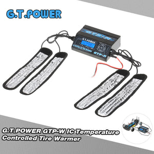 G.T.POWER GTP-W IC Temperature Controlled Tire Warmer Strip Heater w/ LCD Display for 1/10 Size Touring Car Pre-heat Rubber Tires