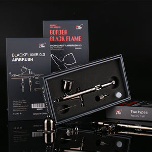 New Listing Toys Military Gundam Assembly Miniature Spray Paint Border Black Flame Airbrush Model Hobby Painting Tools