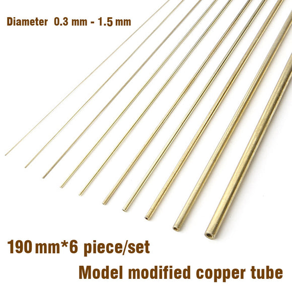 Modelbouw Model Modified Copper Tube 0.3mm-1.5mm Modeling Accessories Gundam Tanks Firearms Tool Hobby Craft Tools Accessory