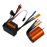 New SURPASS HOBBY Upgrade Waterproof 3650 3500KV Motor with 60A ESC for 1/10 RC Car