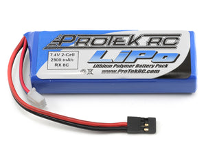 2S 7.4V 2300mAh LiPo Flat Receiver Battery Pack