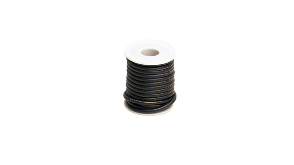 12 Gauge Silicone Ultra-Flex Wire; 25' Spool (Black)