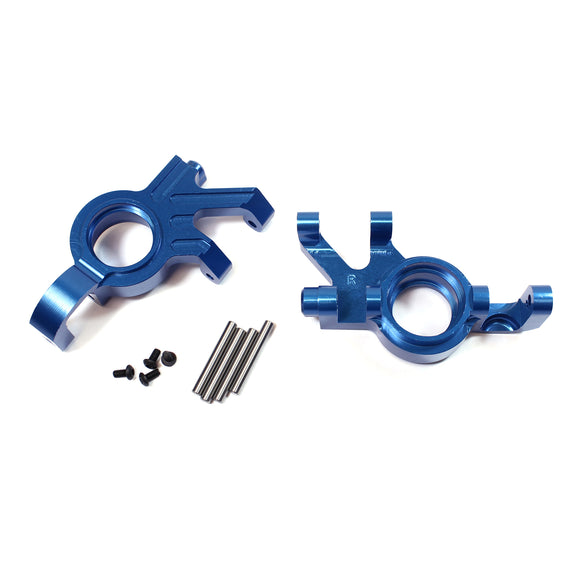 X-Maxx Alum Steering Knuckle Set-Blue