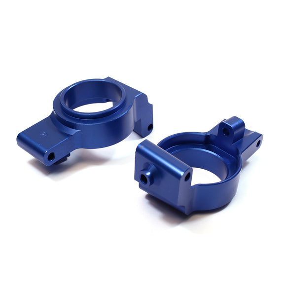 X-Maxx Alum Front Hub Carrier Set-Blue