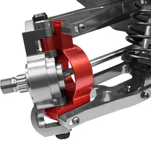 X-Maxx Alum Front Hub Carrier Set-Red