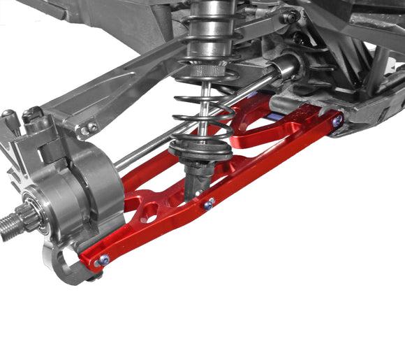 X-Maxx F/R Alum Lower Suspension Arm Set-Red