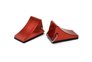 1/10 Scaler Aluminum Wheel Chocks (pr) - Red