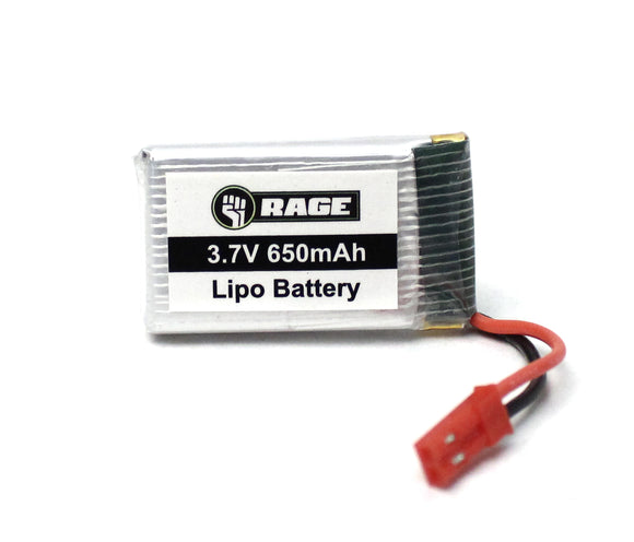 1S 3.7V 650mAh Lipo Battery; Stinger 240