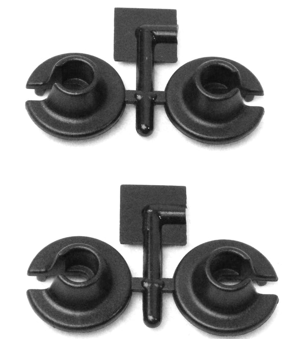 LOWER SPRING CUPS FOR LOSI & SLASH,RALLY,NITRO SLASH(BLACK)