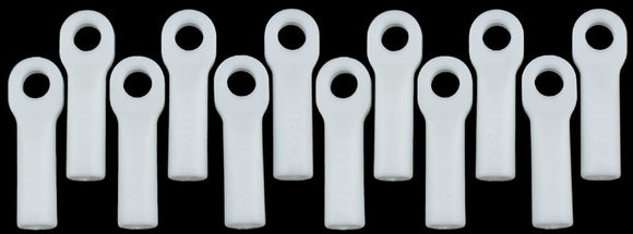 LONG ROD ENDS - DYABLE WHITE FOR TRAXXAS SLASH/RALLY