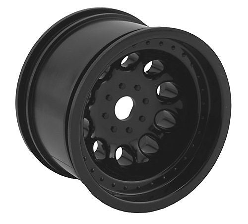 2.2 REVOLVER WHEELS BLACK FR RURTLER & STAMPEDE