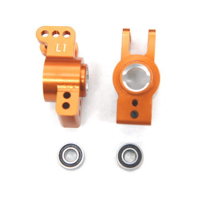 1 DEG. REAR HUB CARRIERS W/ BEARINGS FOR EXO BUGGY(ORANGE)