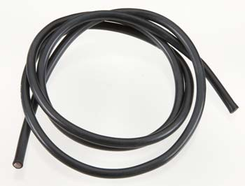 10 Gauge Super Flexible Wire- Black 3'