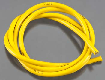 10 Gauge Super Flexible Wire - Yellow 3'