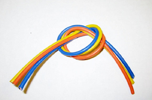 13 Gauge Super Flexible Wire- 1' ea. Blue, Yellow, Orange