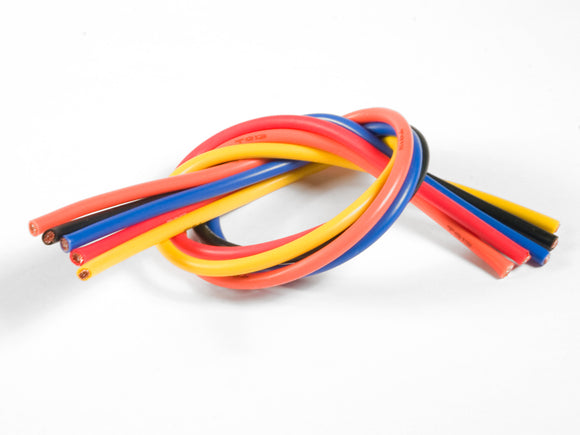 13 Gauge Super Flexible Wire- 1' ea. Black, Red, Blue,