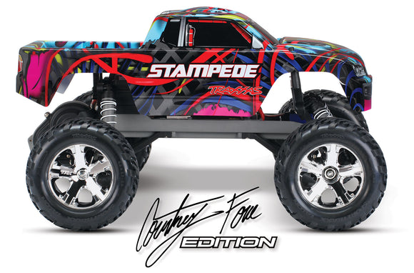 Stampede VXL 1/10 Scale Monster Truck Courtney Force,