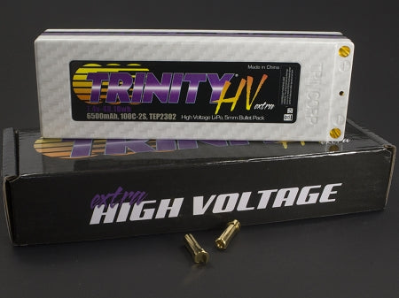 2S 7.4v 6500mah 100C High Voltage Pack with 5MM Bullets