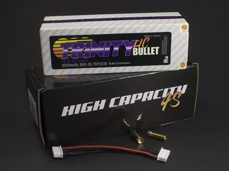 4S 14.8v 6000mah 60C 1/8 E-Buggy Pack with 5MM Bullets