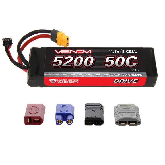 DRIVE 50C 3S 5200mAh 11.1V LiPo Battery with UNI 2.0 Plug