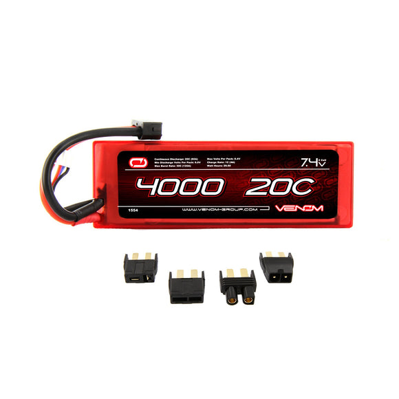 20C 2S 4000MAH 7.4V HARD CASE LIPO BATTERY - UNI