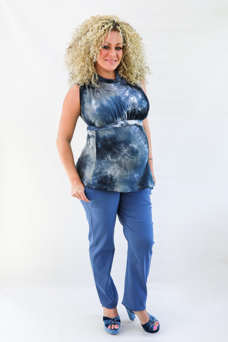NURSING TYE DYE TOP - M047