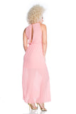 Slit-Back Blouson Maxi Dress - D9618
