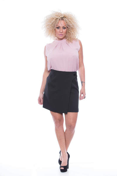 Mini Skirt with Button - FP7501