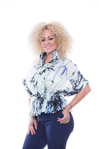 Bahama Style Fashion Blouse -T7522