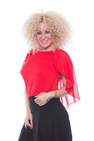 Cape Shoulder top - T7492