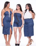 Pencil Denim Skirt - FDM16899