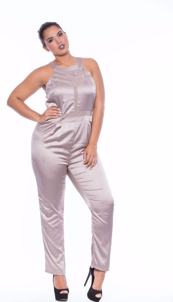 Lily Mesh Panel Jumpsuit - JDMPL248