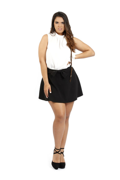 Skirt with Bow Design - FP7509