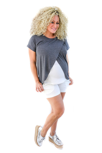 Fit Belly Maternity Short - M036