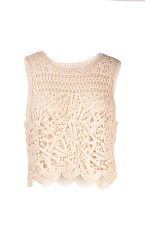 Burbu top Crochet Cover Up with fringe