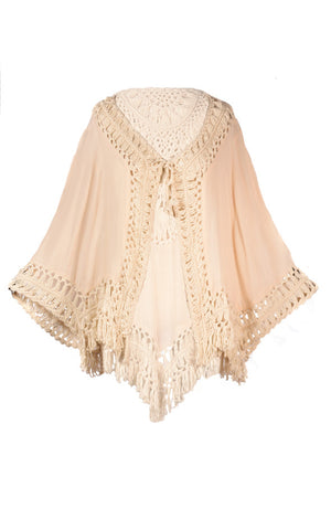 Cover Up Summer Top Beige - T1581