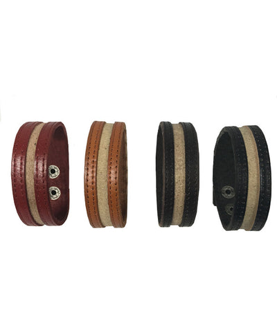 Leather Strap two color belt - BL23