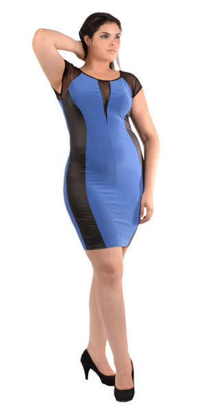 Electric Blue Bodycon Dress - PXD17610