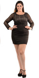 Solid Black  Mini Dress - PJD4545
