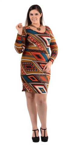 Multicolor Midi Dress - PJD7756