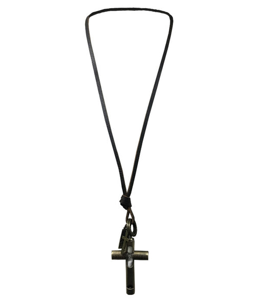 Necklace Hour Glass Cross Charm - NL8