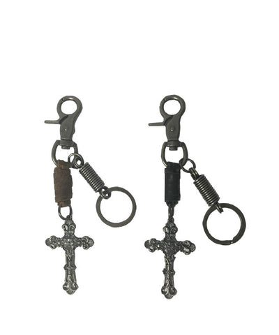 KeyChain Cross with Leather Strap - KC1